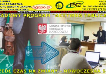 """Projekt """"Aktywna tablica"""" wspierany przez Ministerstwo Edukacji Narodowej"""