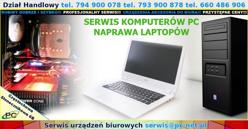 Naprawa komputerów w Częstochowie serwis laptopów. Serwis