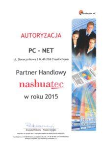 Autoryzacja PC-NET Częstochowa - serwis naprawy drukarek, kserokopiarek i urządzeń biurowych